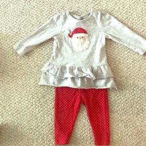Girls 12 mo Christmas outfit